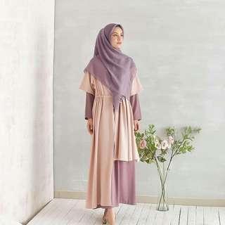 MF - 0418 - Dress Gamis Busana Muslim Wanita Runa Maxi