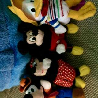 Mickey n Minnie, Goofy and Donald duck