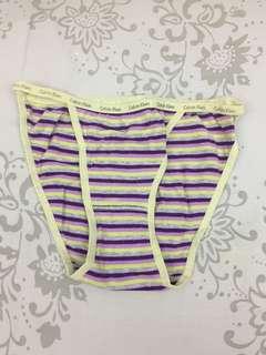 🚚 Calvin Klein 綠紫條紋小褲(M)