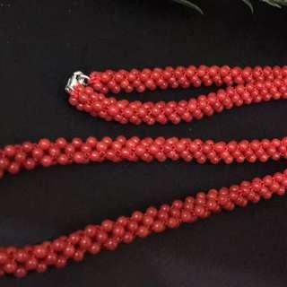 🚚 黑紅色頂級科西卡品質,3mm精品圓珠精編項鍊,平均克重23克左右,附權威機構鑑定證書🍒