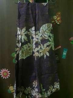 Rok Lilit detail batik ungu all size