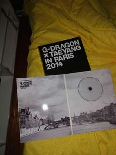 G-Dragon X Taeyang Paris 2014 Limited Edition Photobook & DVD