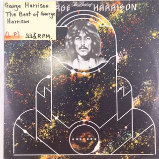 "(1976) George Harrison –The Best of George Harrison 12"" Vinyl Record Album Capitol Records Printed in England"