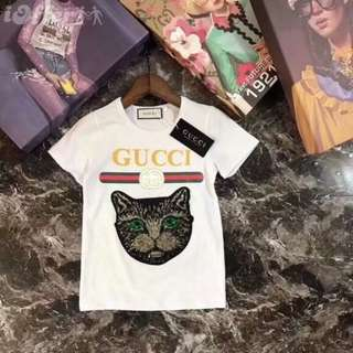 Gucci Children Cat Printed T-Shirt 2-7yrs