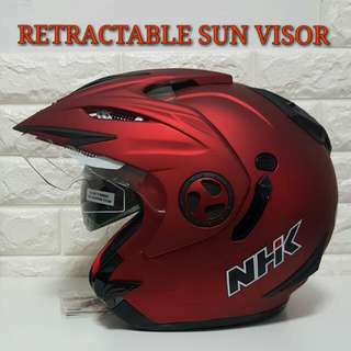 NHK Helmet AVIATOR MARROON Red