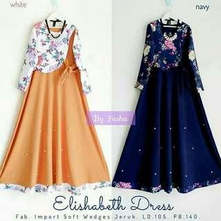 MF - 0418 - Dress Gamis Busana Muslim Wanita Elizabeth
