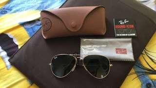 RayBan 黑金太陽眼鏡