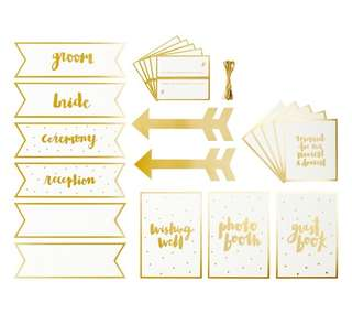 WEDDING SIGNS SET: ALWAYS & FOREVER