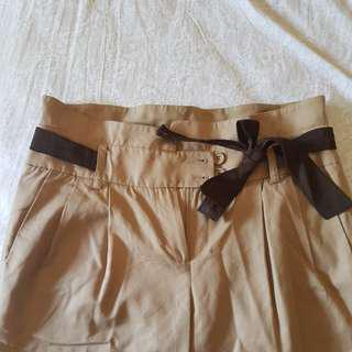 Paper bag style trousers