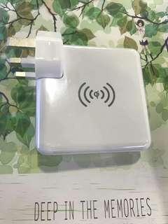 Qi無線充+行動電源+旅行充電器