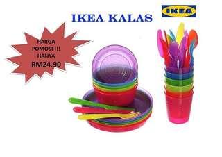 IKEA kalas kids cutlery set PASTEL