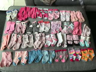 Assorted socks for baby girl ( 0 to 24 months)