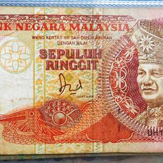 Malaysia old note 10ringgit duit lama