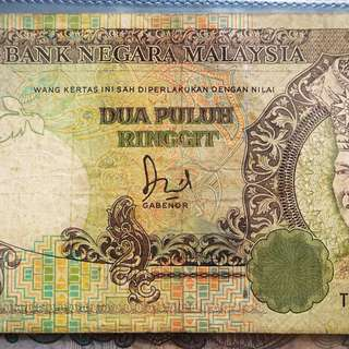 Malaysia old banknote 20ringgit duit lama