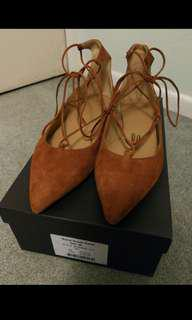 Country Road Suede Lace-up Flats