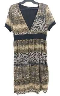 Gold Animal Print Dress
