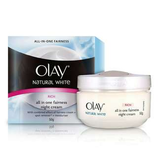 Olay white natural night cream