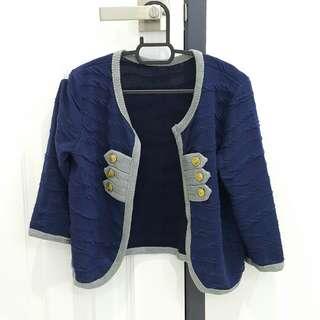 RM5 - Navy Cardigan [BRAND NEW]