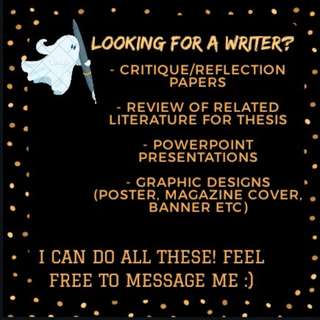 LOOKING FOR A WRITER?