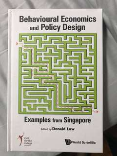 Brand New Behavioural Economics and Policy Design