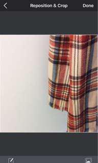 TopShop plaid scarf