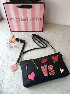 Victoria's Secret Valentines Crossbody Cluth bag