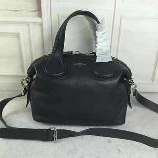 Givenchy Nightingale Black Goatskin Leather