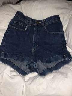 American Apparel High Waisted Denim Shorts! Size 26-27