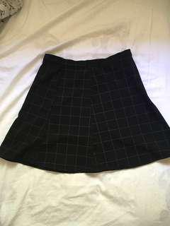 American Apparel Grid Skirt