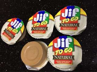 Smuckers Jif to Go Natural Creamy Peanut Butter (Individual Cups)