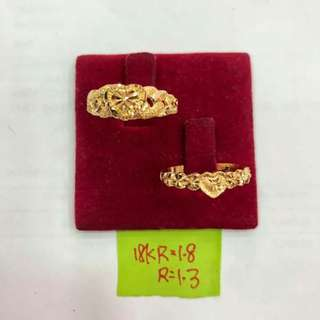 RING SIZE 18K SAUDI GOLD
