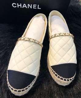 ✨Brand new Chanel 菱格漁夫鞋現貨 36碼全新現貨 ✨
