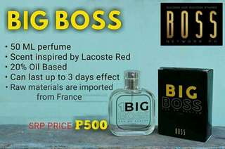 Boss perfumes and soap