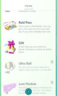 Pokemon Go Gift Service