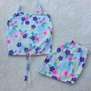 SALE! Baby girls terno shorts