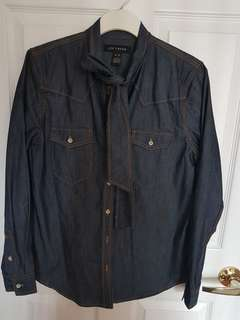 Jean Shirt with ties Size M