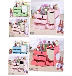 Cosmetics Organizer with Mirror & Cellphone Stand