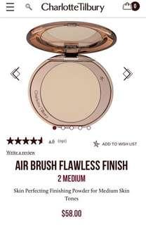 Charlotte Tilbury airbrush Flawless finish powder
