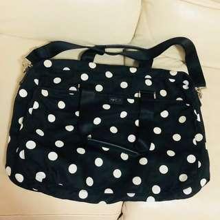 Agnes B Bag 原裝正貨經典波點大size旅行斜咩袋手提兩用連鎖及細袋及紙袋