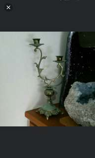 Antique Brass Candle Stand.
