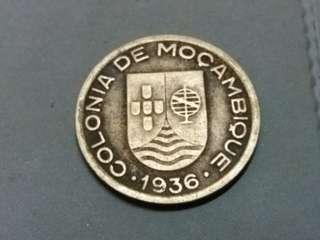 💥💥Colonia De Mozambique (Portuguese) 1936, 50centavos