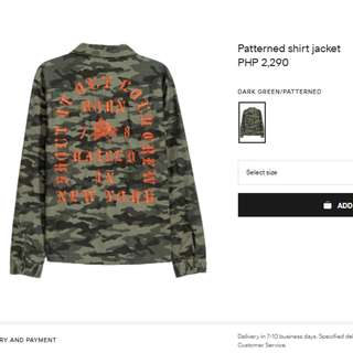 H&M Camouflage Jacket (Pablo Text)