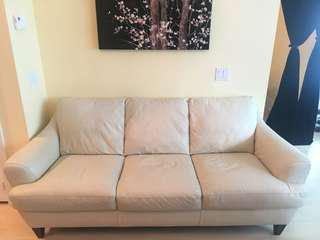 Leather Couch - Cream