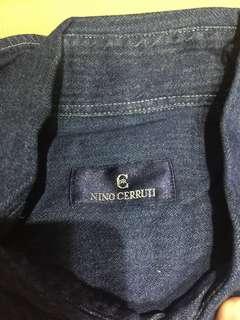 Nino Cerruti Italy long sleeves Chambray denim top
