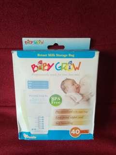 Baby grow breast milk storage bag ( isi 40 )