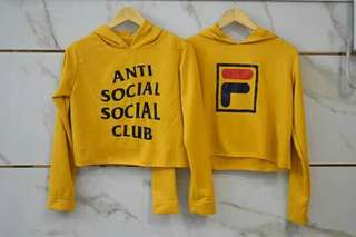 Yellow Hoodie Pullover CROPTOP STYLE