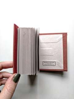 Mini handbound blank notebook.