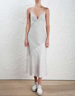 Zimmermann Stranded Slip Dress Polka Dot