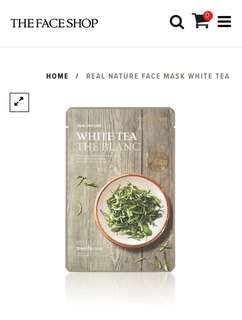 The Face Shop White Tea Face Mask