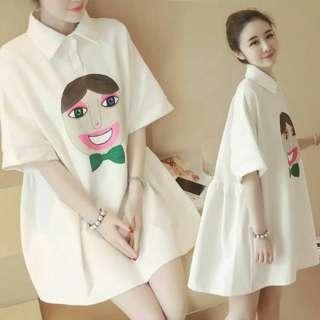 Big Cotton Polo Dress